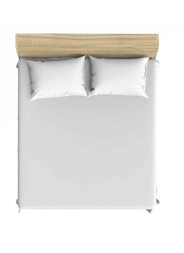 Maki Pazen Flanel Beyaz 120x200 Tek Kişilik Lastikli Çarşaf Takımı Beyaz
